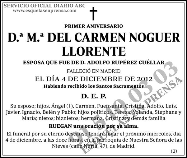 M.ª del Carmen Noguer Llorente